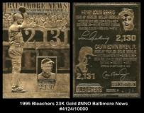 1995 Bleachers 23K Gold #NNO Baltimore News
