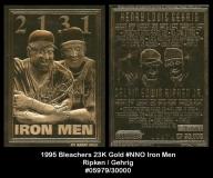 1995 Bleachers 23K Gold #NNO Iron Men