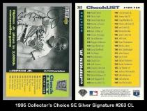 1995 Collectors Choice SE Silver Signature #263 CL