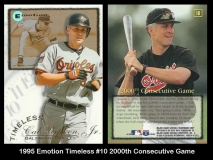 1995 Emotion Timeless #10 2000th Consecutive Game