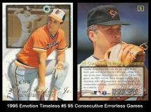 1995 Emotion Timeless #5 95 Consecutive Errorless Games