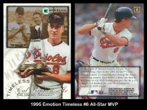 1995 Emotion Timeless #6 All-Star MVP