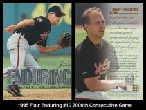 1995 Flair Enduring #10 2000th Consecutive Game