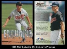 1995 Flair Enduring #14 Defensive Prowess
