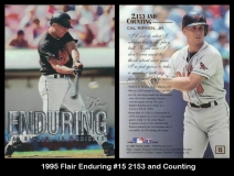 1995 Flair Enduring #15 2153 and Counting