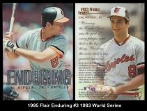 1995 Flair Enduring #3 1983 World Series