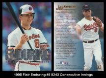 1995 Flair Enduring #5 8243 Consecutive Innings