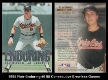 1995 Flair Enduring #6 95 Consecutive Errorless Games