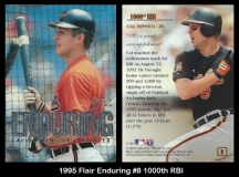 1995 Flair Enduring #8 1000th RBI