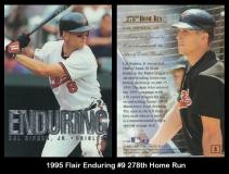 1995 Flair Enduring #9 278th Home Run