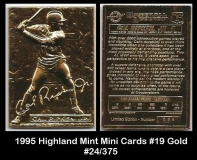 1995 Highland Mint Mini Cards #19 Gold