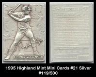 1995 Highland Mint Mini Cards #21 Silver