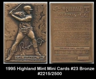 1995 Highland Mint Mini Cards #23 Bronze