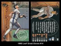1995 Leaf Great Gloves #14