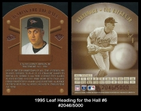 1995 Leaf Heading for the Hall #6
