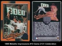 1995 Metallic Impressions #10 Game 2131 Celebration