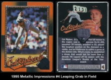 1995 Metallic Impressions #4 Leaping Grab in Field
