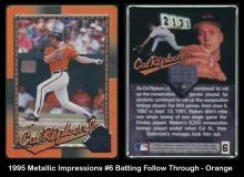 1995 Metallic Impressions #6 Batting Follow Through - Orange