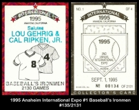 1995 Anaheim International Expo #1 Baseballs Ironmen