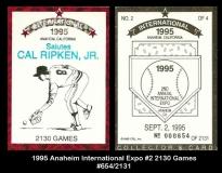 1995 Anaheim International Expo #2 2130 Games