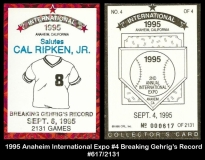 1995 Anaheim International Expo #4 Breaking Gehrig's Record