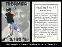 1995 Investors Journal Headline Pick #15-1 Silver Foil