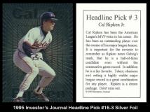 1995 Investors Journal Headline Pick #16-3 Silver Foil