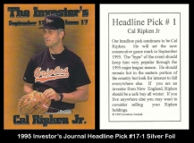 1995 Investors Journal Headline Pick #17-1 Silver Foil
