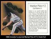 1995 Investors Journal Market Pick #17-2 Gold Foil