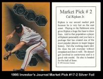 1995 Investors Journal Market Pick #17-2 Silver Foil