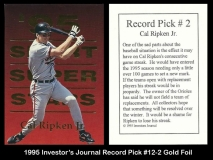 1995 Investors Journal Record Pick #12-2 Gold Foil