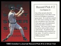 1995 Investors Journal Record Pick #12-2 Silver Foil