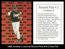1995 Investors Journal Record Pick #18-2 Gold Foil