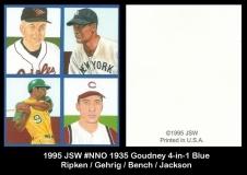 1995 JSW #NNO 1935 Goudney 4-in-1 Blue 2