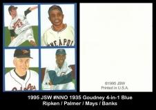 1995 JSW #NNO 1935 Goudney 4-in-1 Blue
