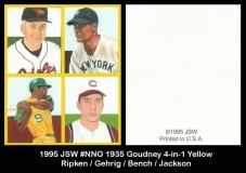1995 JSW #NNO 1935 Goudney 4-in-1 Yellow 2