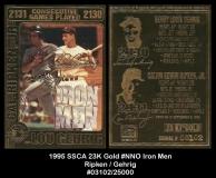 1995 SSCA 23K Gold #NNO Iron Men