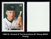 1995 St Vincent & The Grenadines $1 Stamp #NNO Posing