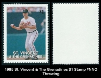 1995 St Vincent & The Grenadines $1 Stamp #NNO Throwing