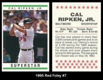 1995 Red Foley #7