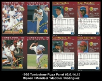 1995 Tombstone Pizza Panel #5, 6, 14, 15