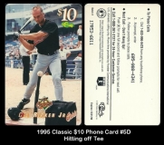 1995 Classic $10 Phone Card #5D Hitting off Tee