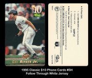1995-Classic-10-Phone-Cards-5H-Follow-Through-White-Jersey