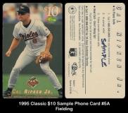 1995 Classic $10 Sample Phone Card #5A Fielding
