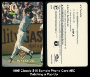 1995 Classic $10 Sample Phone Card #5C Catching a Pop-Up