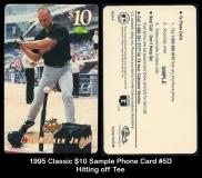 1995 Classic $10 Sample Phone Card #5D Hitting off Tee