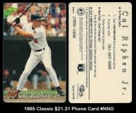 1995 Classic $2131 Phone Card #NNO