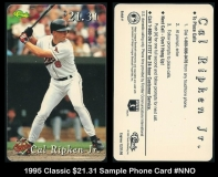 1995 Classic $2131 Sample Phone Card #NNO