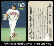 1995 Classic Assets $10 Promo Phone Card #NNO