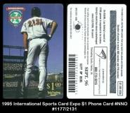 1995 International Sports Card Expo $1 Phone Card #NNO